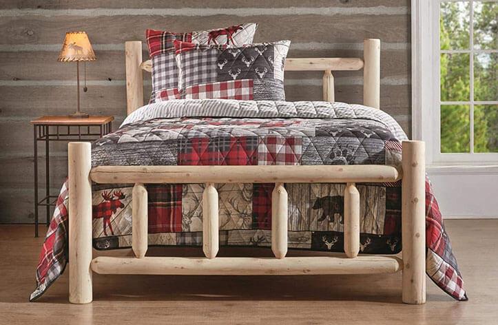 CASTLECREEK Cedar Log Queen Bed