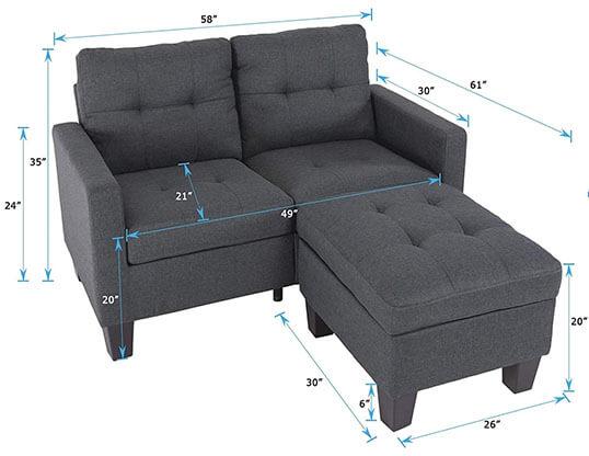 Good & Gracious Sectional Sofa - dims