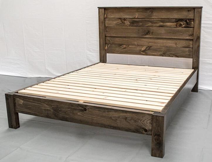 Midwest Farmhouse Rustic Platform Bed