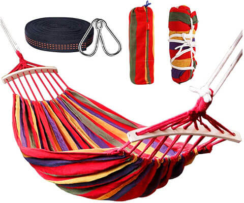 Rusee Ultralight Hammock with Hardwood Spreader Bar