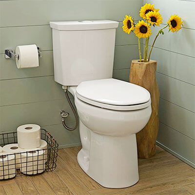 American Standard 2887218.020 H2Option Dual Flush Elongated Toilet