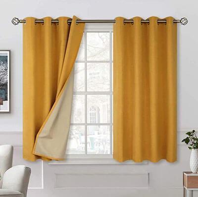 BGmentTextured Linen Sound Barrier Curtain
