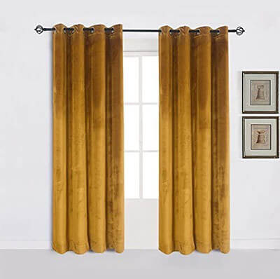 Cherry Home Super Soft Luxury Velvet Curtain