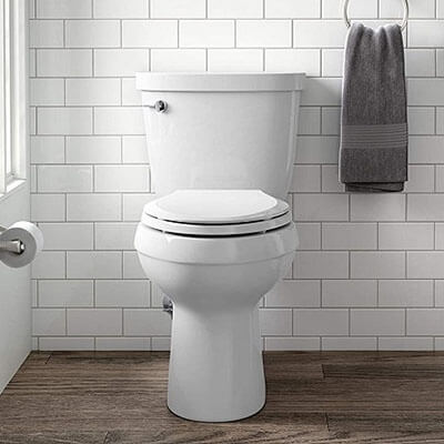 Kohler K-3589-0 Cimarron Comfort Height Two-piece Toilet
