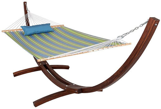 Lazy Daze Wood Arc Hammock Stand