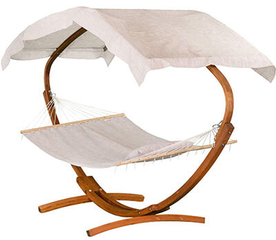 Leisure Season HSWC115-Z Stationary Stand with Hammock & Canopy