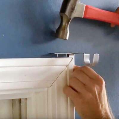 No-drill Hang Curtain Rod Brackets
