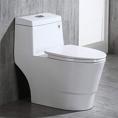 WOODBRIDGE T-0019 Dual Flush Elongated One Piece Toilet