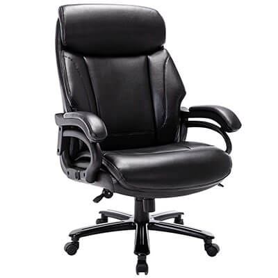 STARSPACE Big Tall Leather Office Chair