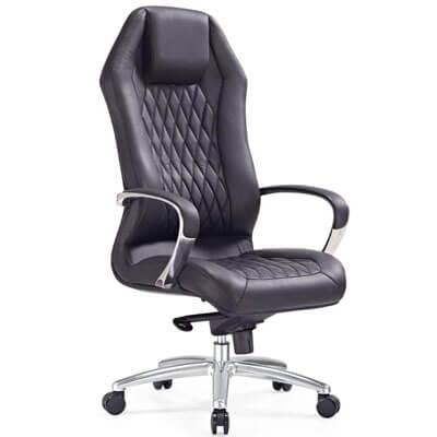 Zuri Furniture Ergonomic Sterling Genuine Leather Executive Chair