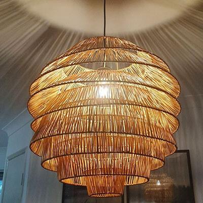 Eight-Layer-Rattan-Pendant-Light