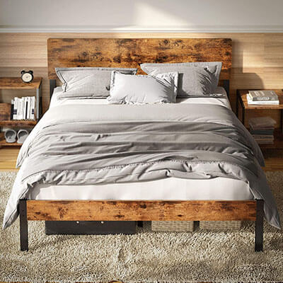 LIKIMIO Bed Frame with Headboard