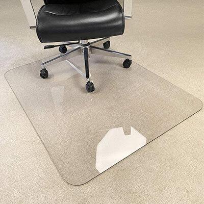 MuArts Crystal Clear Heavy Duty Hard Chair Mat