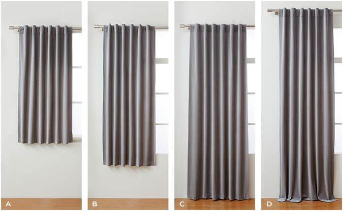 bedroom curtain lengths