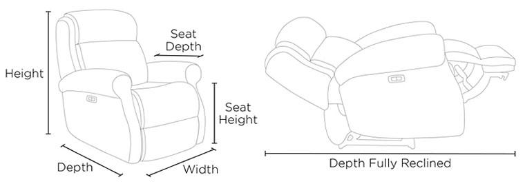 recliner dimensions