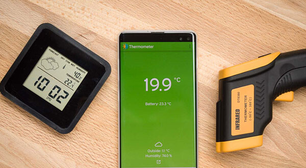 check ambient temperature with smartphone