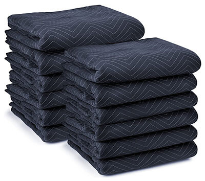 moving blankets muffle sounds before they hit the walls