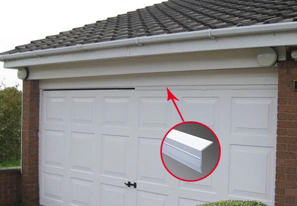 sealing the top of the garage door