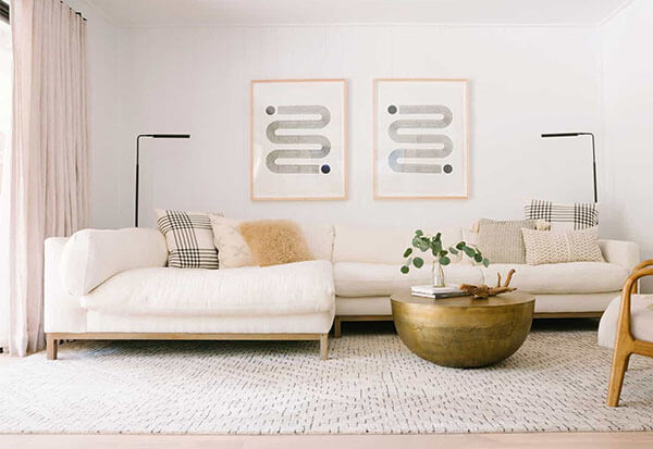 use rug to keep furniture from sliding around