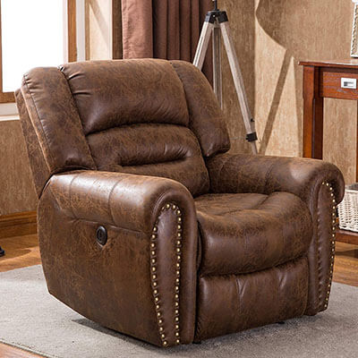 ANJ Electric Leather Recliner Chair for sleeping