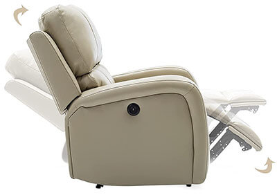 Bonzy Home Overstuffed Leather Recliner - side