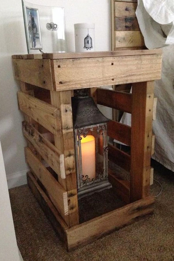 Farmhouse Wooden Pallet Night Stand