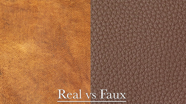real leather vs faux leather